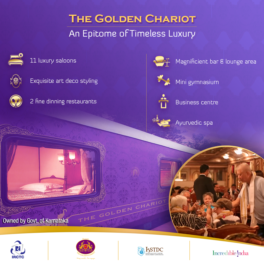 Discover South India's incredible beauty via The Golden Chariot Luxury Train Packages