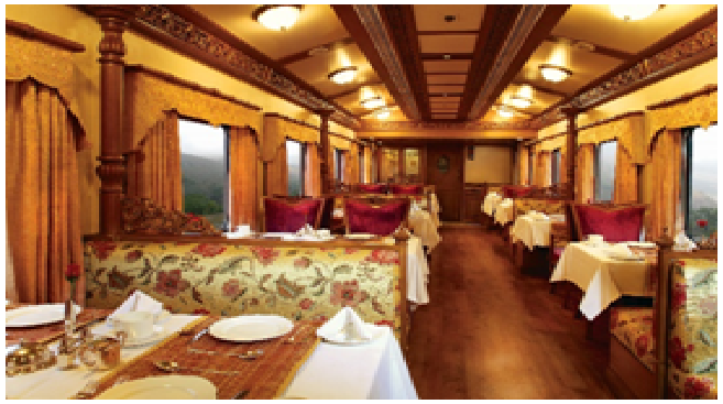 What is the ticket price of Indian luxury train, The Golden Chariot?
